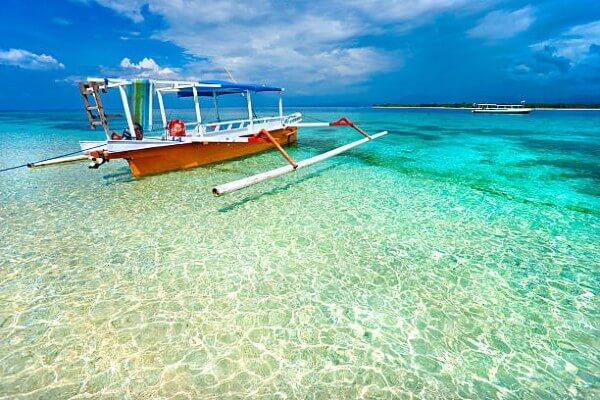 Un paysage typique des îles Gili