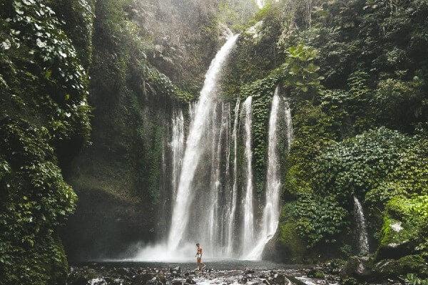La cascade de Sendang Gile, à Lombok