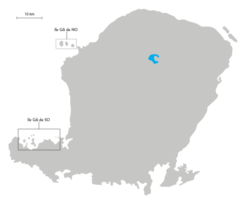 Carte des iles Gili