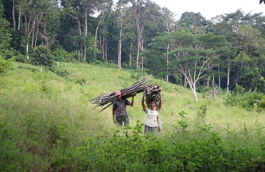 Des villageois au Parc Naturel de Meru Betiri
