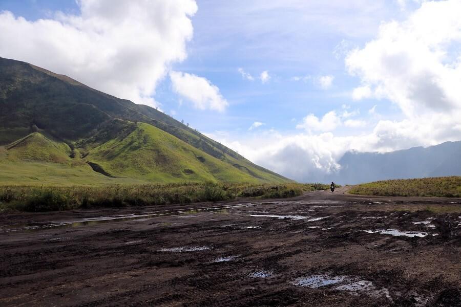 Paysage typique du mont Bromo