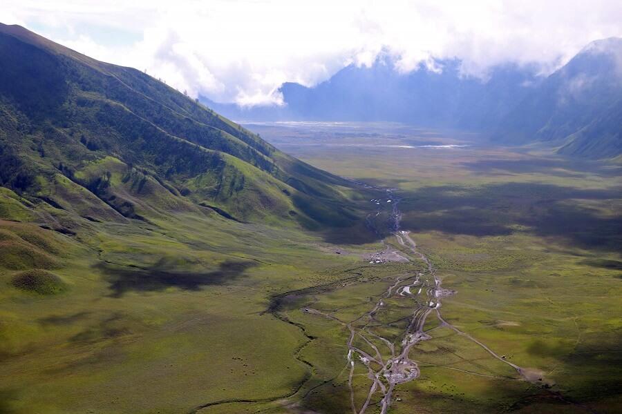 Splendide paysage du mont Bromo