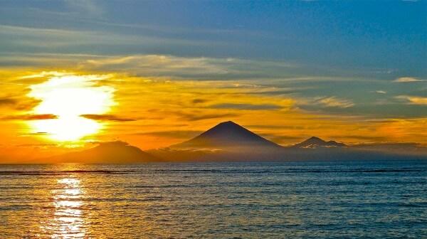 Gili, coucher de soleil à Gili Trawangan