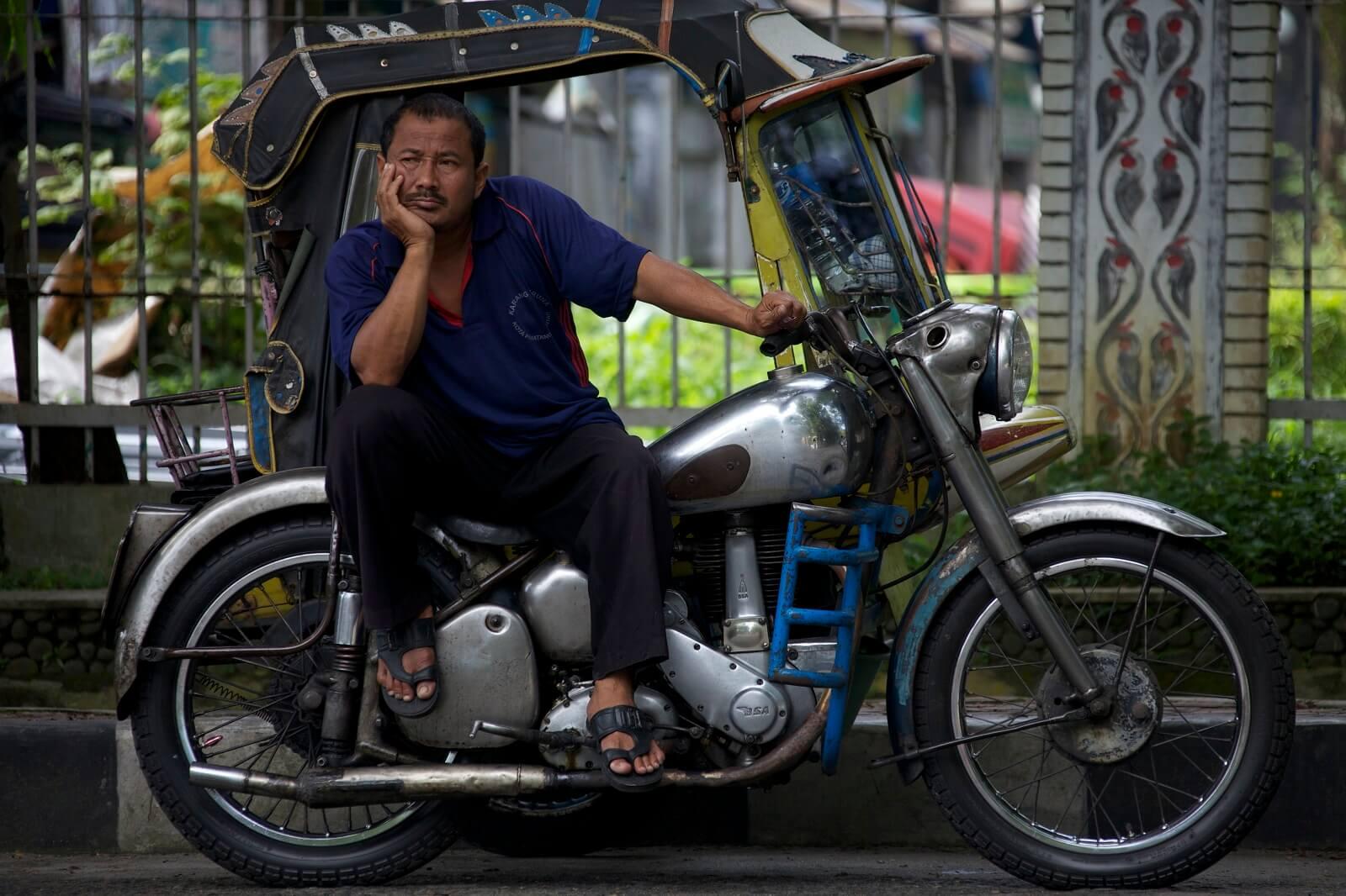 Notre circuit à moto en Royal Enfield à Sumatra