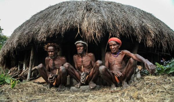 Une hutte traditionnelle en vallée de Baliem, en Papouasie