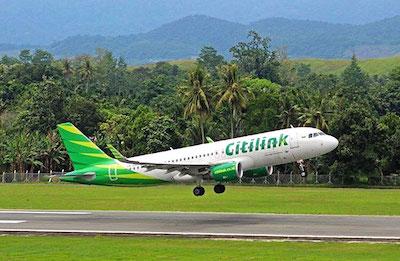 Un avion de la compagnie Citilink au décollage