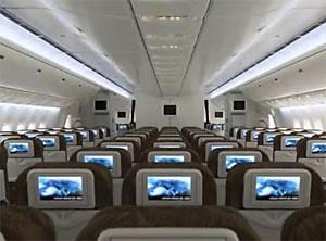 L'intérieur d'un avion de ligne indonésien