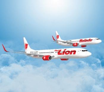 Des avions de la compagnie Lion Air en plein vol