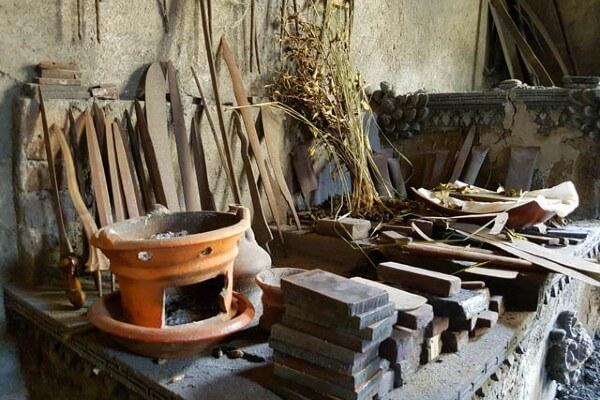 Atelier d'un faiseur de keris